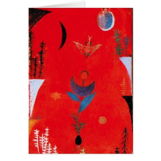 Tarjeta de felicitación del mito de la flor de Pau