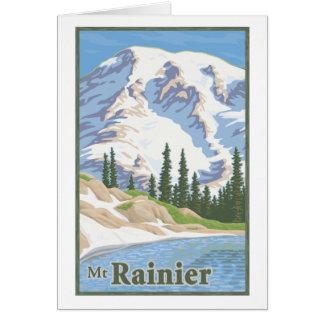 Tarjeta de felicitación del Monte Rainier del vint