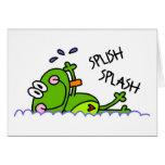 Tarjeta de felicitación del muchacho de Froggie de