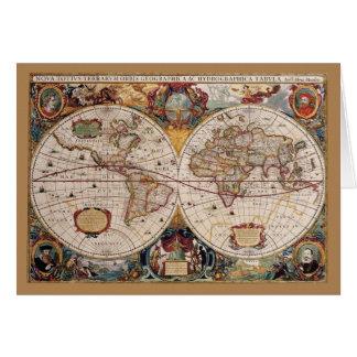 Tarjeta de felicitación del mundo de Olde