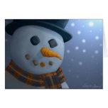 Tarjeta de felicitación del muñeco de nieve