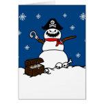 Tarjeta de felicitación del muñeco de nieve del