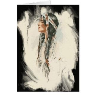 Tarjeta de felicitación del nativo americano