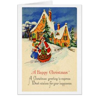 Tarjeta de felicitación del navidad (CA 1920)