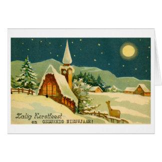 Tarjeta de felicitación del navidad CA 1940