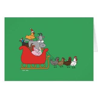 Tarjeta de felicitación del navidad de la granja