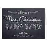 Tarjeta de felicitación del navidad de la mirada d
