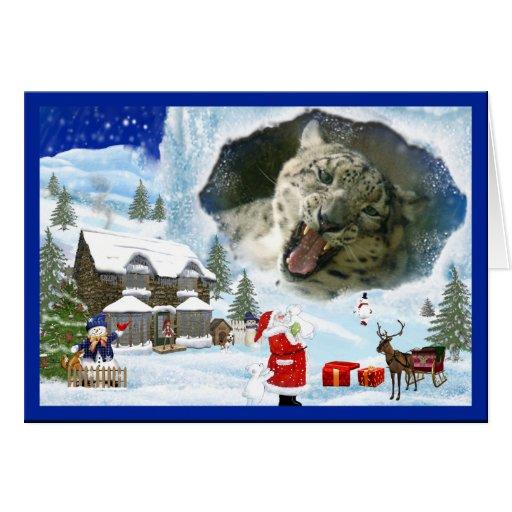 Tarjeta de felicitación del navidad de la onza