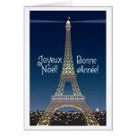 Tarjeta de felicitación del navidad de la torre Ei