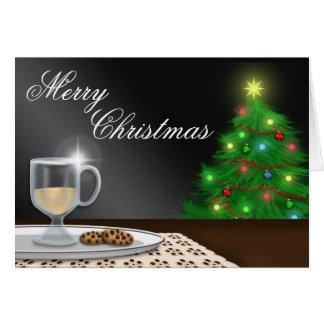 Tarjeta de felicitación del navidad de la yema y d
