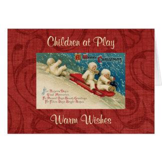Tarjeta de felicitación del navidad de los niños