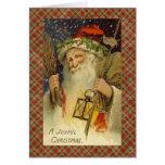 Tarjeta de felicitación del navidad de Papá Noel d