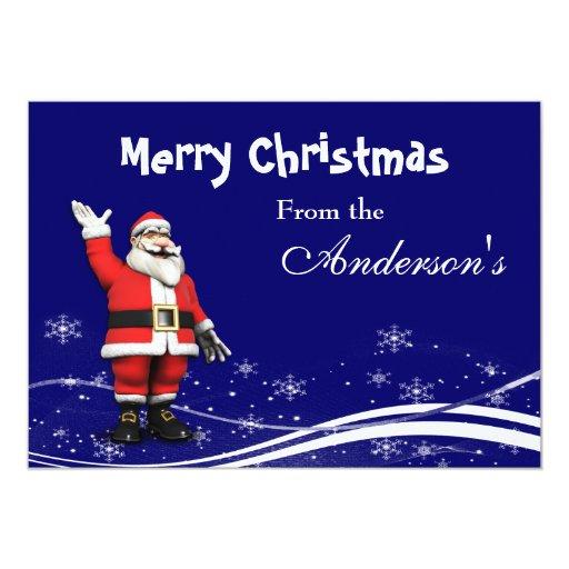Tarjeta de felicitación del navidad de Papá Noel Invitación 12,7 X 17,8 Cm
