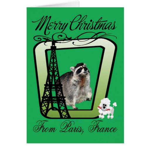 Tarjeta de felicitación del navidad de París, Fran