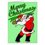 Tarjeta de felicitación del navidad de Santa del b