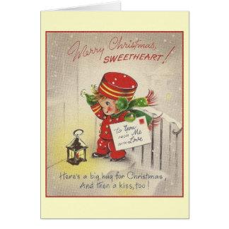 Tarjeta de felicitación del navidad del amor del