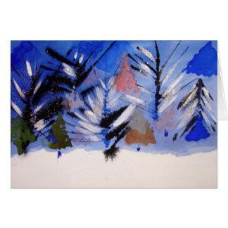 tarjeta de felicitación del navidad del bosque de