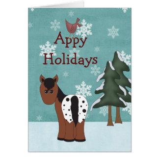 Tarjeta de felicitación del navidad del caballo de