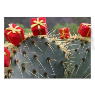 Tarjeta de felicitación del navidad del cactus