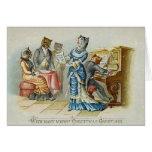 Tarjeta de felicitación del navidad del gato del v