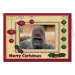 Tarjeta de felicitación del navidad del gorila