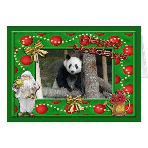 Tarjeta de felicitación del navidad del oso de pan
