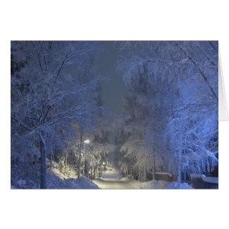 Tarjeta de felicitación del navidad del paisaje de