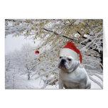 Tarjeta de felicitación del navidad del perrito