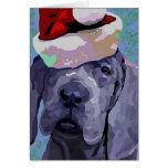 Tarjeta de felicitación del navidad del perrito de