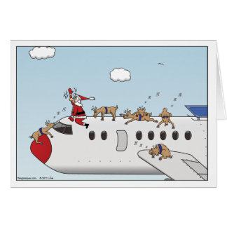 Tarjeta de felicitación del navidad del piloto aut
