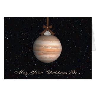 Tarjeta de felicitación del navidad del planeta de