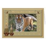 Tarjeta de felicitación del navidad del tigre de B