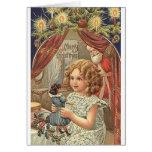 Tarjeta de felicitación del navidad del Victorian