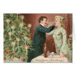 Tarjeta de felicitación del navidad del vintage
