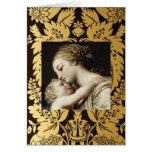 Tarjeta de felicitación del navidad Madonna y niño