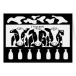 Tarjeta de felicitación del negocio de la vaca
