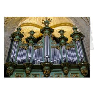 Tarjeta de felicitación del órgano de