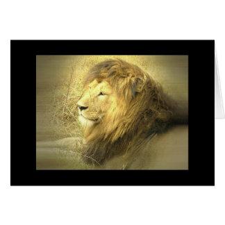 Tarjeta de felicitación del orgullo del león