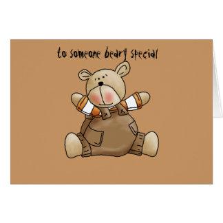 tarjeta de felicitación del oso