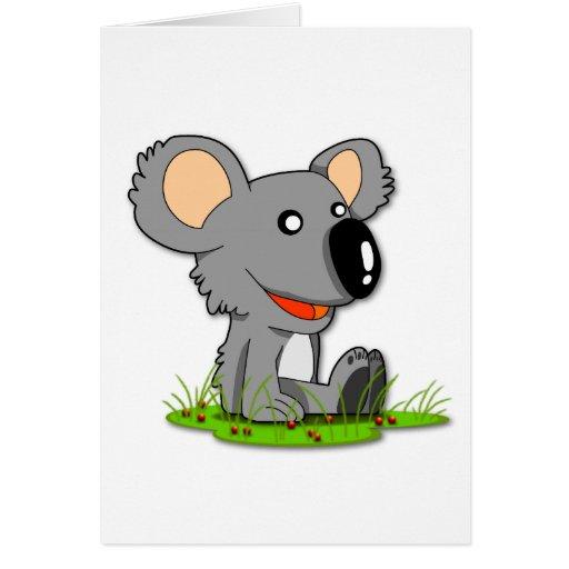 Tarjeta de felicitación del oso de koala