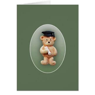 Tarjeta de felicitación del oso de peluche de la g
