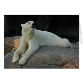 Tarjeta de felicitación del oso polar