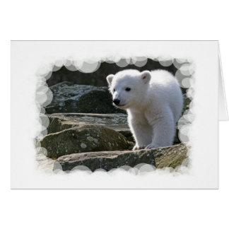 Tarjeta de felicitación del oso polar del bebé