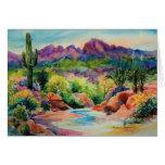 Tarjeta de felicitación del paisaje de Arizona