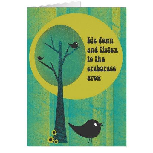 Tarjeta de felicitación del pájaro del garranchuel
