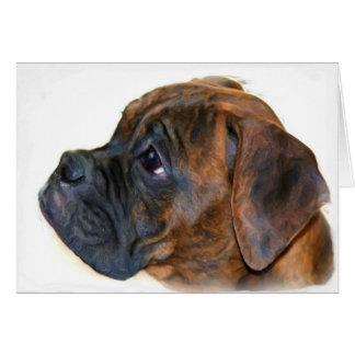 Tarjeta de felicitación del perrito del boxeador