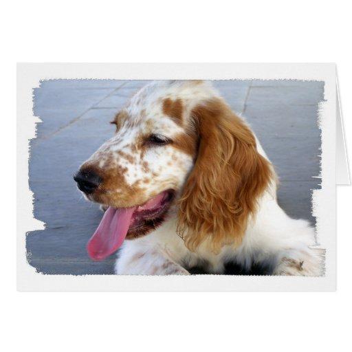 Tarjeta de felicitación del perrito del perro de a