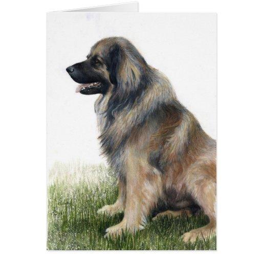 Tarjeta de felicitación del perro de Leonberger