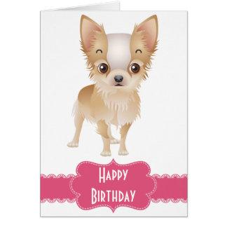 Tarjeta de felicitación del perro de perrito de la