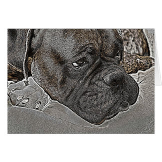 Tarjeta de felicitación del perro del boxeador